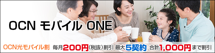 オプション OCN モバイル ONE